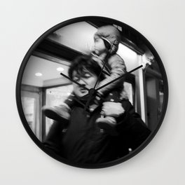 Father Carrying his Girl on his Nick, A Wall Clock