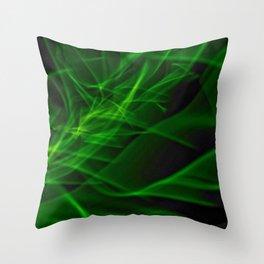Glowstick Light painting Throw Pillow