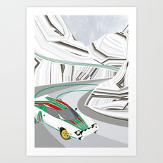 Stratos (Without Text) Art Print