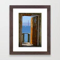 Alcatraz Doorway to the Golden Gate Framed Art Print