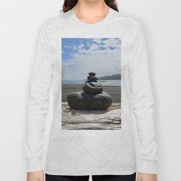 Finding Balance at the Beach Long Sleeve T-shirt