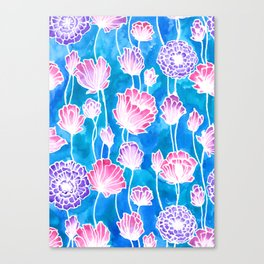 Blues and Pinks Canvas Print