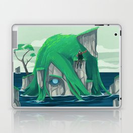 The wanderer and the ancient island Laptop & iPad Skin
