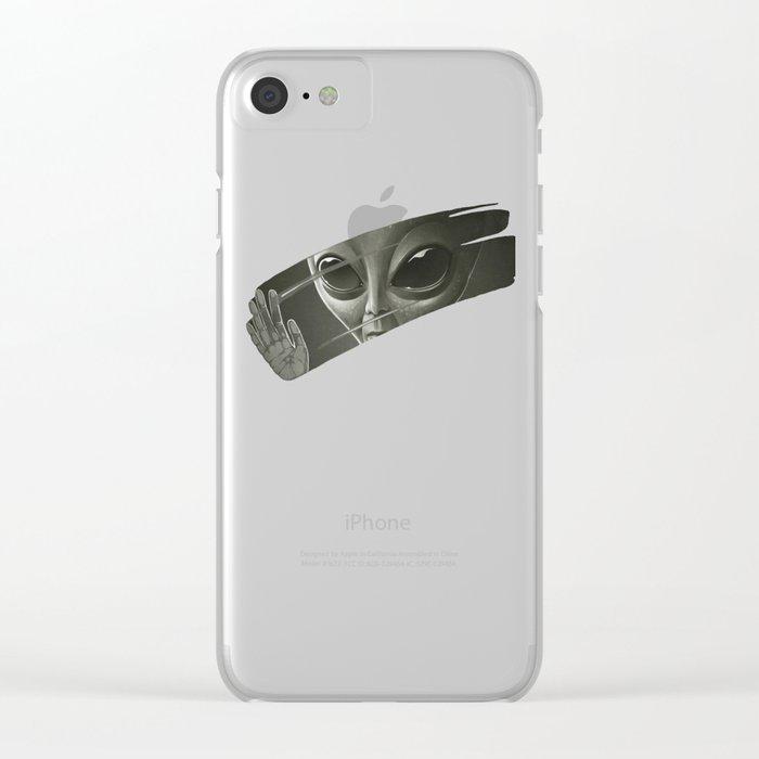 Alien Clear iPhone Case