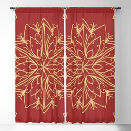 Golden Snowflake Blackout Curtain