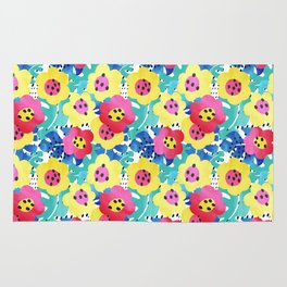 Watercolor summery bloom Rug