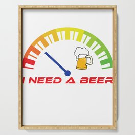 """""""I Need A Beer"""" tee design. Great and unique gift this seasons of giving! Go get it now!  Serving Tray"""