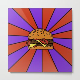 The Burger  Metal Print