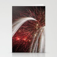 fireworks Stationery Cards featuring Fireworks by Carolina Jaramillo