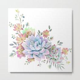 succulent watercolor 4 Metal Print