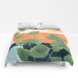 Nature Geometry IX Comforters