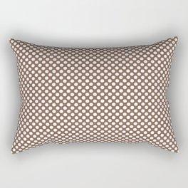 Aztec and White Polka Dots Rectangular Pillow