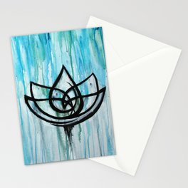 Lotus in the Rain I Stationery Cards