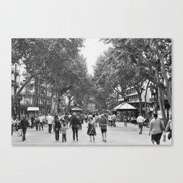 Las Ramblas Canvas Print