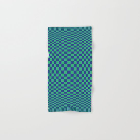Green and Blue - Optical game Hand & Bath Towel