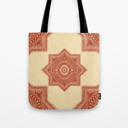 The Red Moroccan Pattern Tote Bag