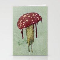 mushroom Stationery Cards featuring Mushroom by Lime