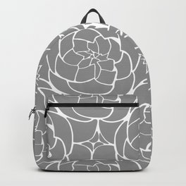 Succulents in Gray Backpack