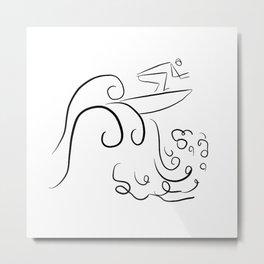 Surf Uncertainty Metal Print