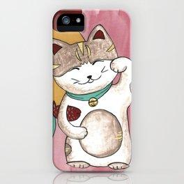Lucky Maneki Neko Kitty iPhone Case