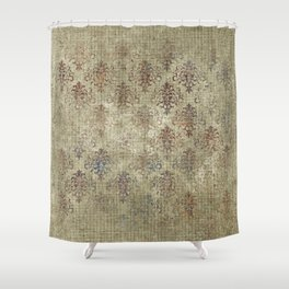 Aged Damask Texture 7 Shower Curtain