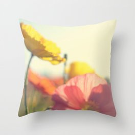 DREAMY POPPIES Throw Pillow