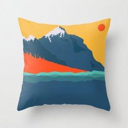 The Mountain are calling Throw Pillow
