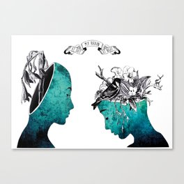 My brain at day and night  Canvas Print