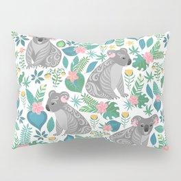 Koalas and Flowers Pillow Sham