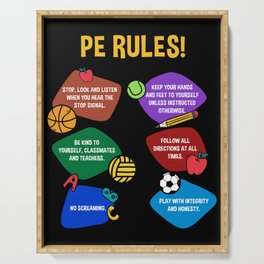 PE Physical Education Teacher Rules Serving Tray