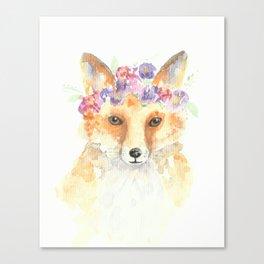 Miss Foxie Canvas Print