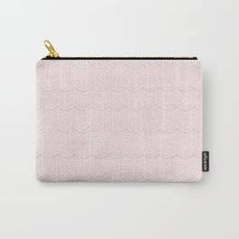 Rose Quartz  Pink Faux Lace Carry-All Pouch