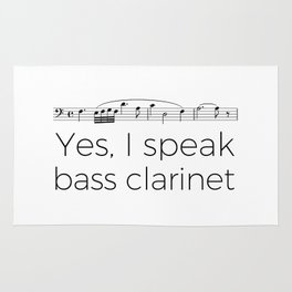 I speak bass clarinet Rug