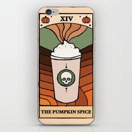 The Pumpkin Spice Tarot Card iPhone Skin