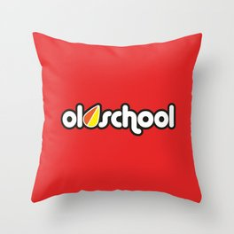 OLDSCHOOL v3 HQvector Throw Pillow