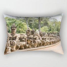 Angkor Thom South Gate Devas, Siem Reap, Cambodia Rectangular Pillow