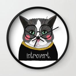 whistleburg - Introvert Cat Wall Clock