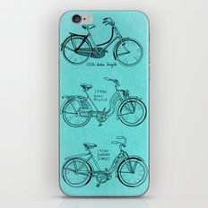 Vintage Ladies Bicycles iPhone & iPod Skin