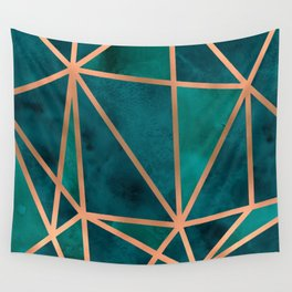 Copper & Emerald Geo Wandbehang