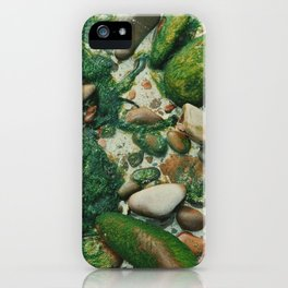 Moss-Covered Rocks in Isle of Skye, Scotland iPhone Case