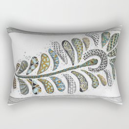 Patterned Peacock Feather Rectangular Pillow