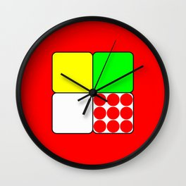 Tour de France Jerseys 3 Red Wall Clock