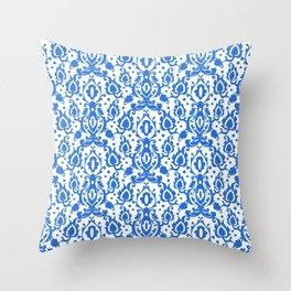 Tunisian Blue Casbah Throw Pillow