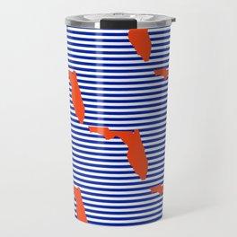 Florida university gators orange and blue college sports football stripes pattern Travel Mug