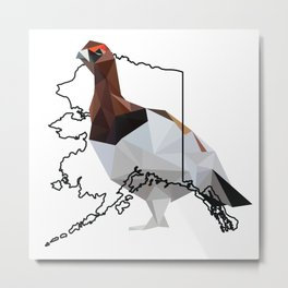Alaska – Willow Ptarmigan Metal Print