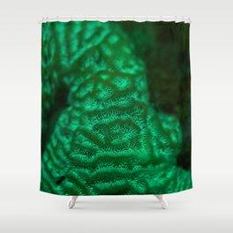 Flourescent mountaintop Shower Curtain
