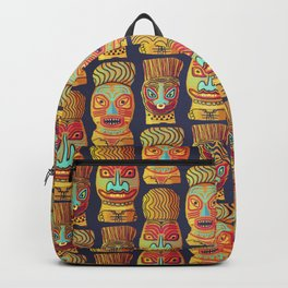 Tiki mask pattern Backpack