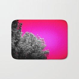 Gray Trees Hot Pink Sky Bath Mat