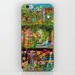 The Secret Garden Book Shelf iPhone Skin