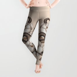Snake and Peonies Leggings